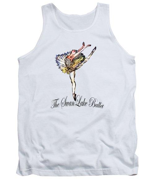 The Swan Lake Ballet Tank Top by Marie Loh