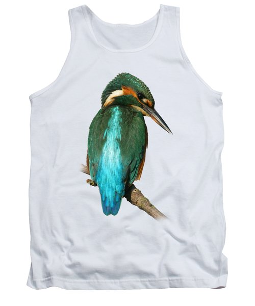 The Watchful Kingfisher T-shirt Tank Top by Tony Mills