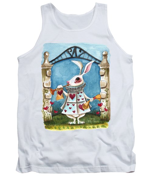 The White Rabbit Announcing Tank Top by Lucia Stewart