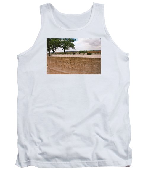 Tank Top featuring the photograph Their Name Liveth For Evermore by Travel Pics
