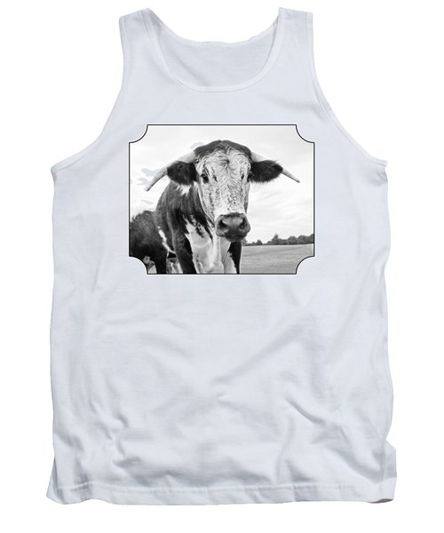 This Is My Field - Black And White Tank Top by Gill Billington