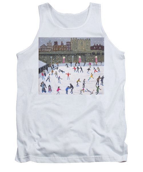 Tower Of London Ice Rink Tank Top by Andrew Macara