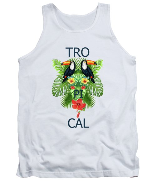 Tropical Summer  Tank Top by Mark Ashkenazi