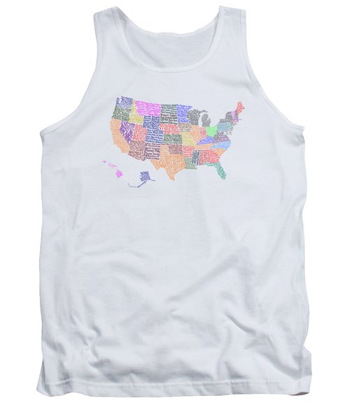 United States Musicians Map Tank Top by Trudy Clementine