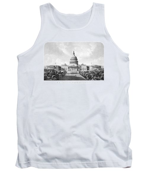 Us Capitol Building - Washington Dc Tank Top by War Is Hell Store