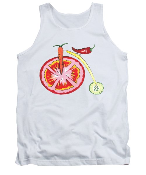 Veggie Bike Tank Top by Kathleen Sartoris