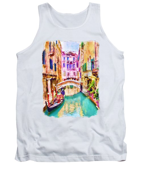 Venice Canal 2 Tank Top by Marian Voicu