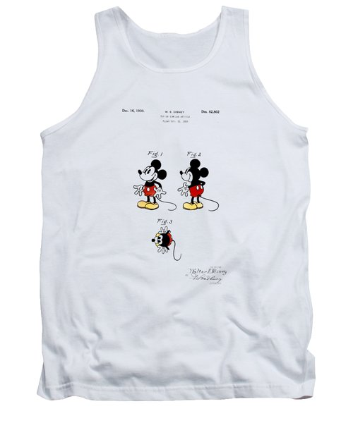 Vintage 1930 Mickey Mouse Patent Tank Top by Digital Reproductions