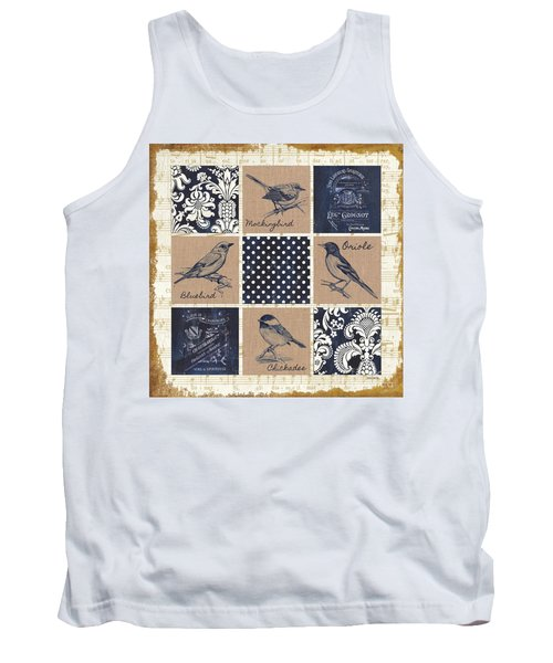 Vintage Songbird Patch 2 Tank Top by Debbie DeWitt