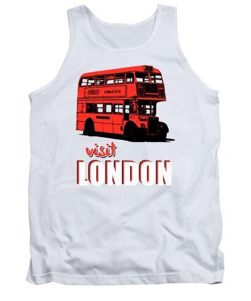Visit London Tee Tank Top by Edward Fielding