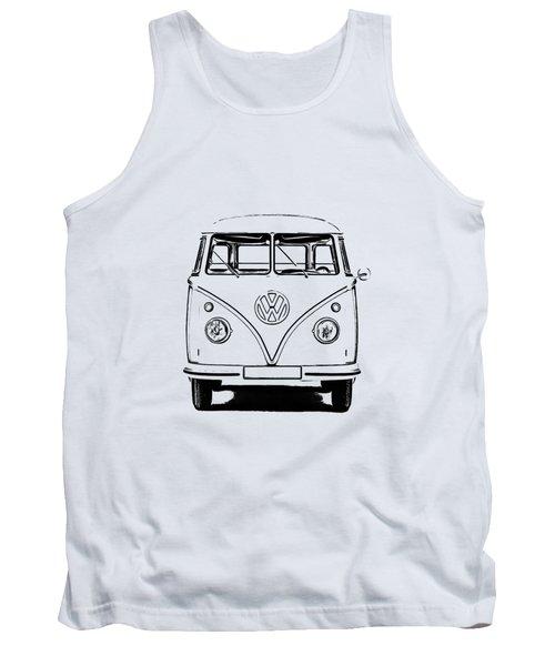 Vw Bus T-shirt Tank Top by Edward Fielding