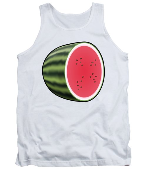 Water Melon Outlined Tank Top by Miroslav Nemecek