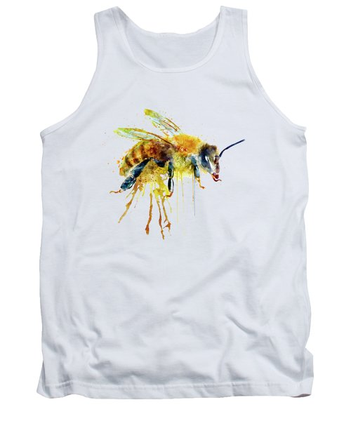 Watercolor Bee Tank Top by Marian Voicu