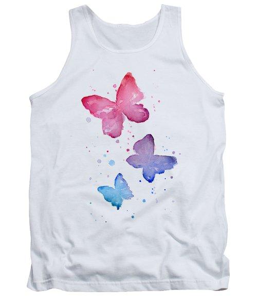 Watercolor Butterflies Tank Top by Olga Shvartsur