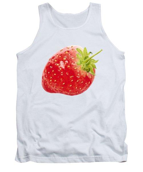 Watercolor Strawberry Tank Top by Kathleen Skinner