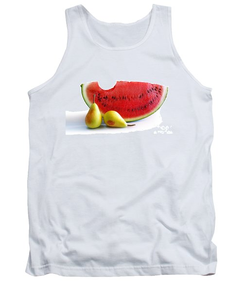 Watermelon And Pears Tank Top by Carlos Caetano