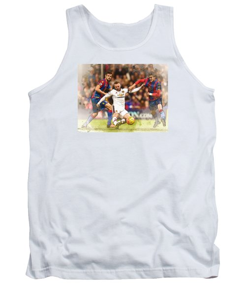 Wayne Rooney Shoots At Goal Tank Top by Don Kuing