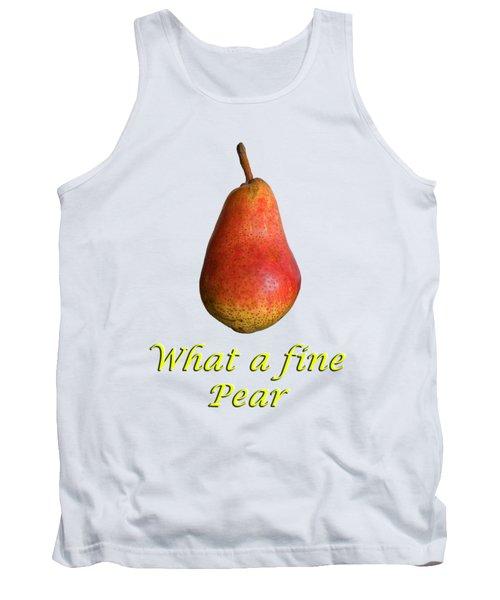What A Fine Pear Tank Top by Gillian Singleton