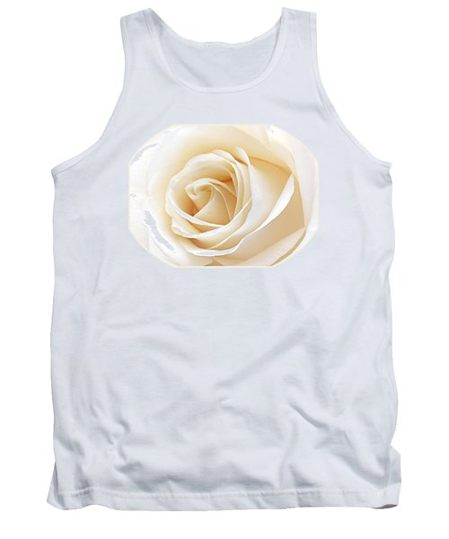White Rose Heart Tank Top by Gill Billington