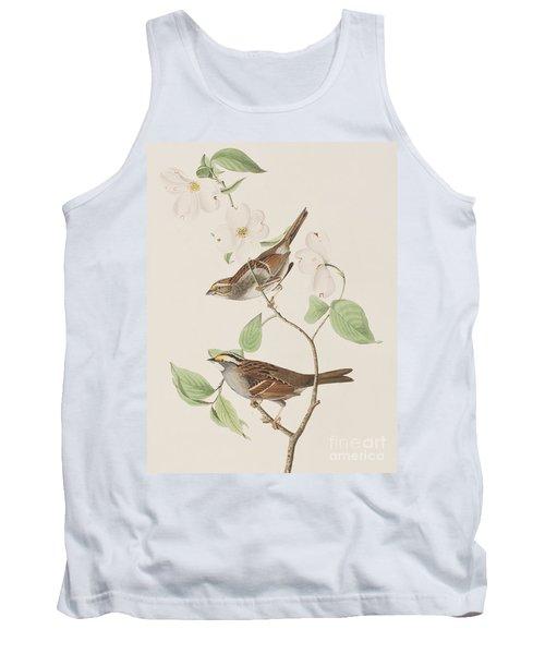 White Throated Sparrow Tank Top by John James Audubon