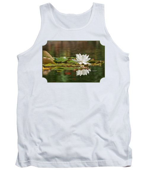 White Water Lily With Damselflies Tank Top by Gill Billington