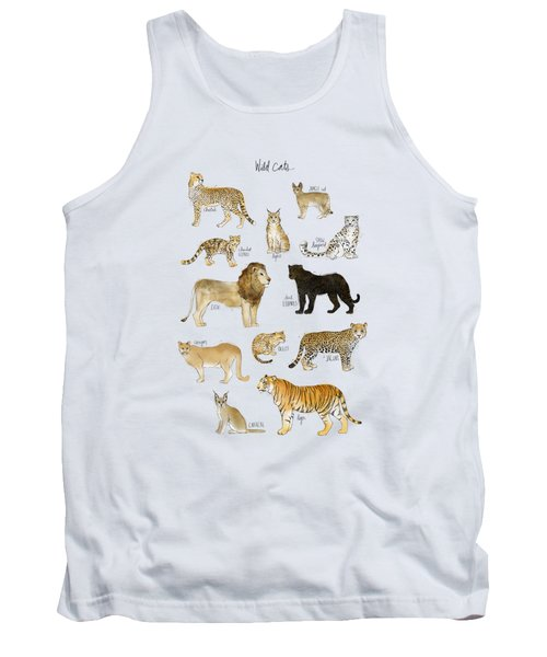 Wild Cats Tank Top by Amy Hamilton