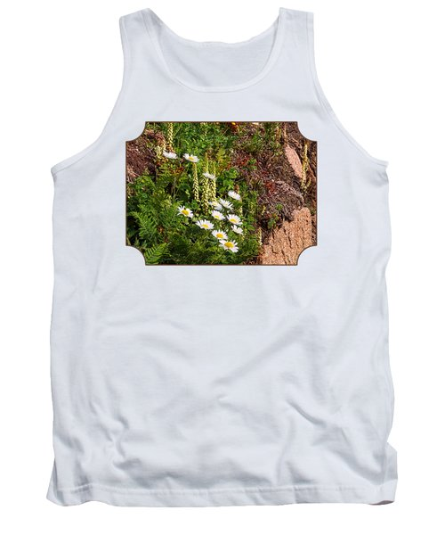Wild Daisies In The Rocks Tank Top by Gill Billington