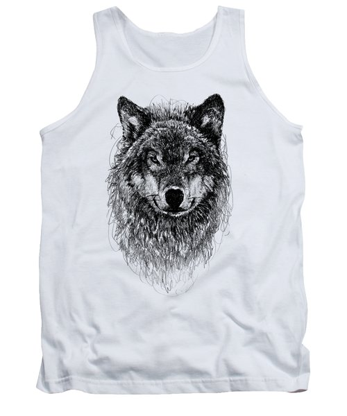 Wolf Tank Top by Michael  Volpicelli