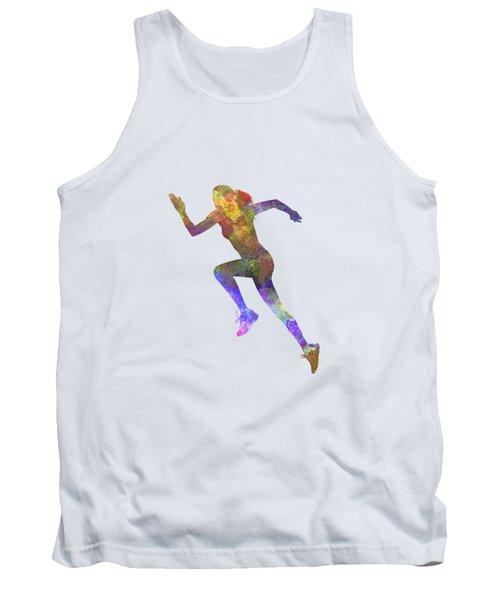Woman Runner Running Jogger Jogging Silhouette 03 Tank Top by Pablo Romero