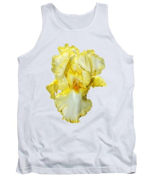 Yellow Mist Iris Tank Top by Phyllis Denton