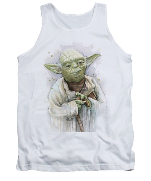 Yoda Tank Top by Olga Shvartsur