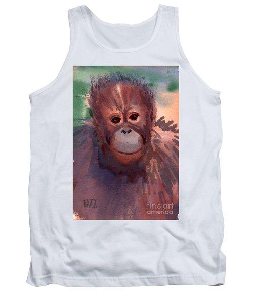 Young Orangutan Tank Top by Donald Maier