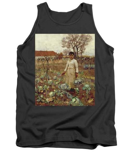 A Hinds Daughter, 1883 Oil On Canvas Tank Top by Sir James Guthrie
