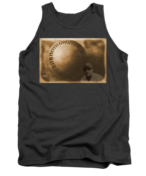 A Tribute To Babe Ruth And Baseball Tank Top by Dan Sproul