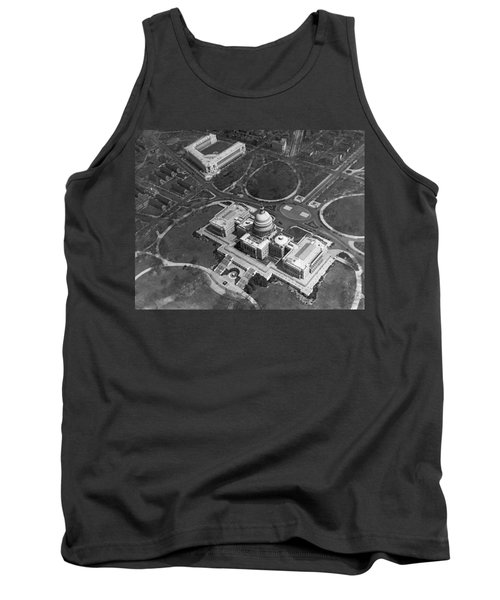 Aerial View Of U.s. Capitol Tank Top by Underwood Archives