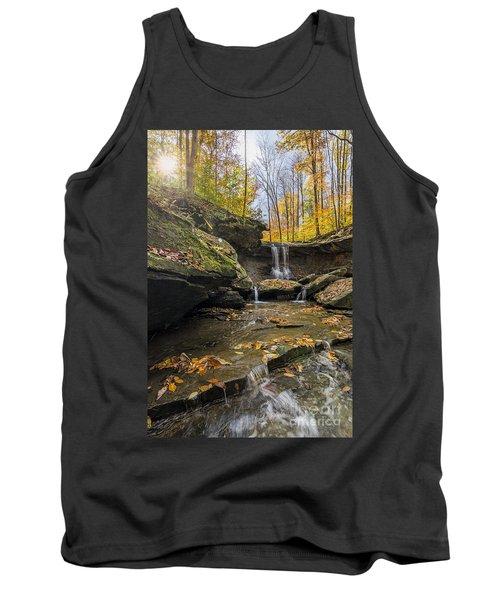 Autumn Flows Tank Top by James Dean