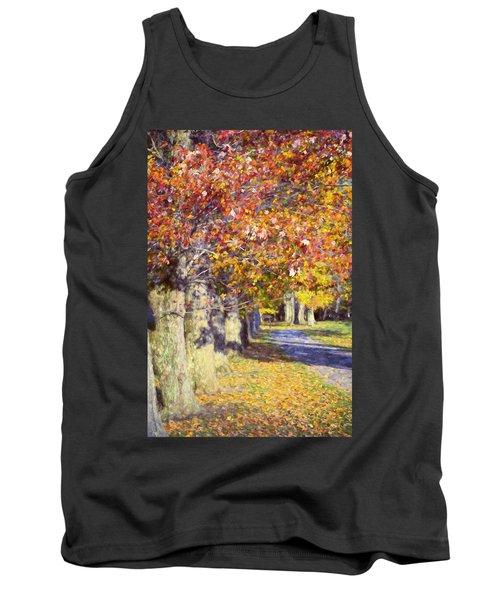 Autumn In Hyde Park Tank Top by Joan Carroll
