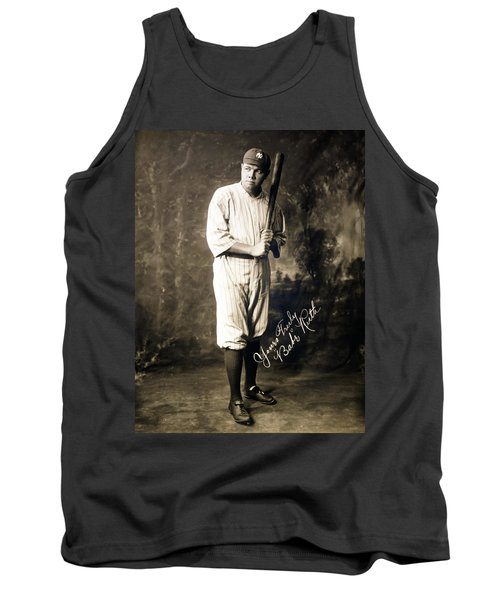 Babe Ruth 1920 Tank Top by Mountain Dreams