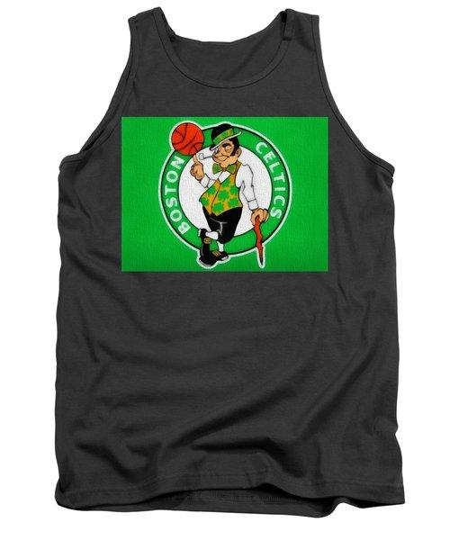 Boston Celtics Canvas Tank Top by Dan Sproul
