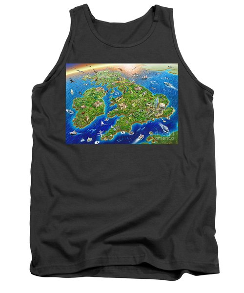 British Isles Tank Top by Adrian Chesterman