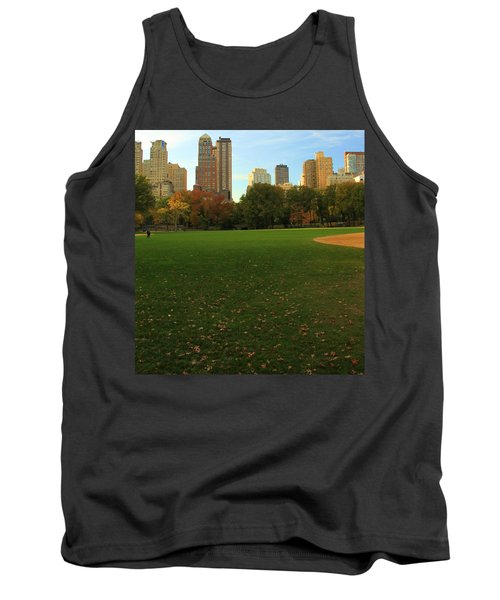 Central Park In Autumn Tank Top by Dan Sproul