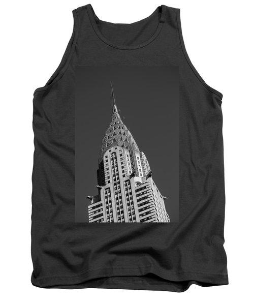 Chrysler Building Bw Tank Top by Susan Candelario