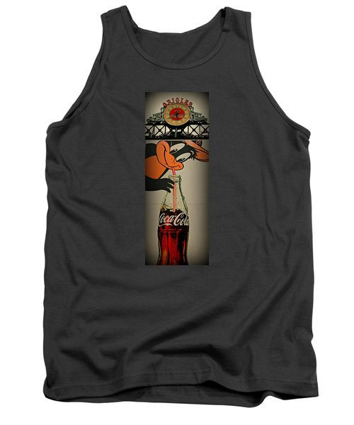 Coca Cola Orioles Sign Tank Top by Stephen Stookey