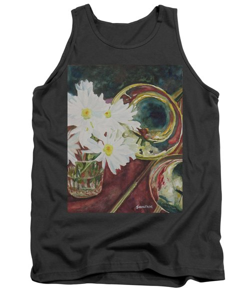 Daisies Bold As Brass Tank Top by Jenny Armitage
