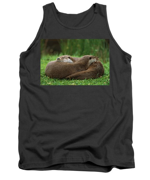 European River Otter Lutra Lutra Tank Top by Ingo Arndt