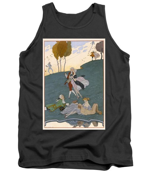 Fetes Galantes Tank Top by Georges Barbier