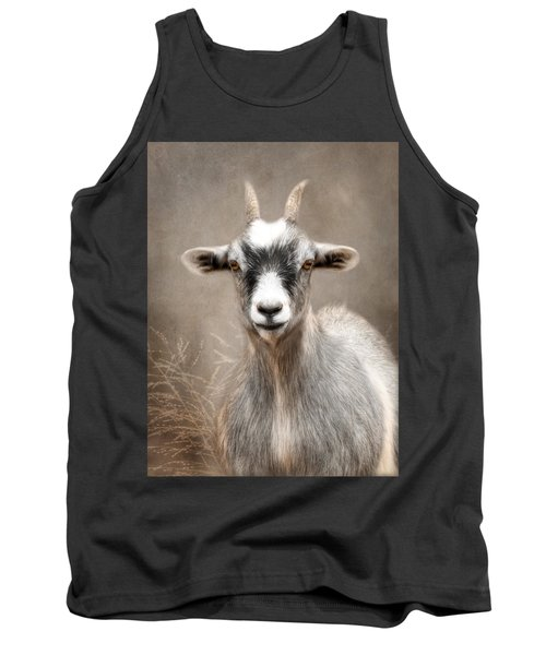 Goat Portrait Tank Top by Lori Deiter