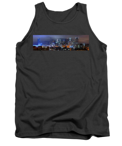 Gotham City - Los Angeles Skyline Downtown At Night Tank Top by Jon Holiday