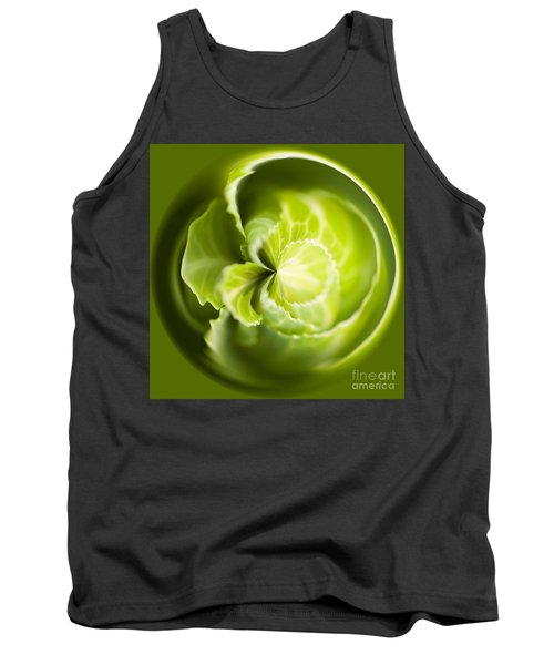 Green Cabbage Orb Tank Top by Anne Gilbert