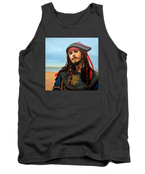 Johnny Depp As Jack Sparrow Tank Top by Paul Meijering